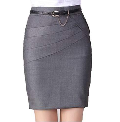 Frühling Sommer kurzer Rock Tasche Rock Frauen schlanke Paket Hüftrock dünne Damen Rock-grau-M