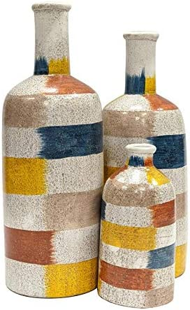 Crestview Collection Luccio Set of in Bargain Multi-C Vases Terracotta 3 Same day shipping
