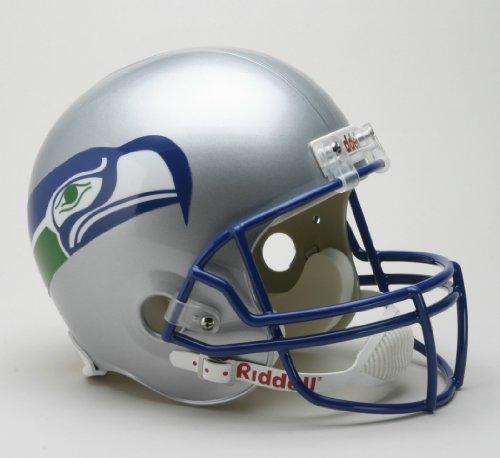 Riddell NFL Seattle Seahawks Helmet Replica Full Size VSR4 Style 1983-2001 Throwback, One Size, Team Color