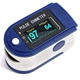 Digistream Fingertip Pulse Oximeter For Adults / Children | DS2 Series High Accuracy Pulse Oxymeters For Blood Oxygen Saturation SpO2 and Heart Rate Monitoring | Assembled in India ( 3 - 6 Months Warranty ( T & C Apply )