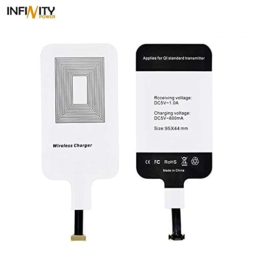 Wireless Charging Receiver Qi Wireless Charger Receiver for Android Micro-USB Type-B (narow DOWN) Wireless Charging Receiver Patch