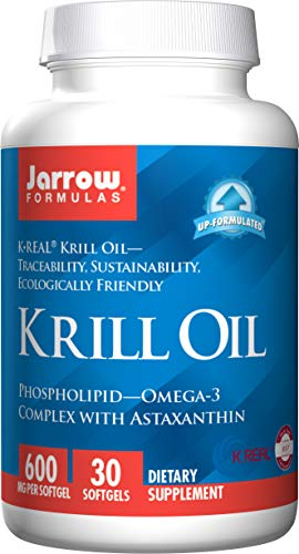 Jarrow Formulas Krill Oil, Supports Brain, Memory, Energy, Cardiovascular Health, 30 Softgels