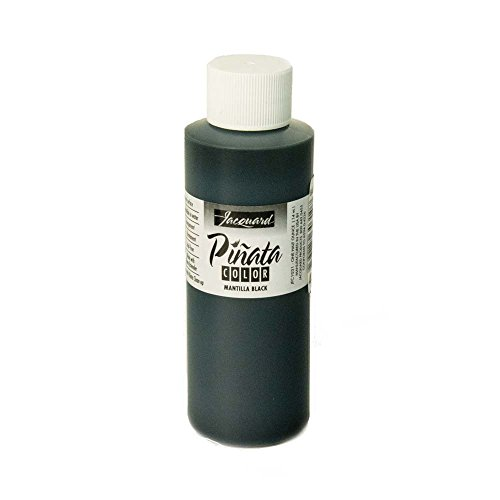 Pinata Mantilla Black Alcohol Ink That by Jacquard, Professional and Versatile Ink That Produces Color-Saturated and Acid-Free Results, 4 Fluid Ounces, Made in The USA