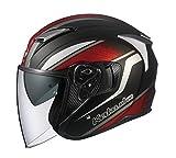 オージーケーカブト(OGK KABUTO)バイクヘルメット ジェット EXCEED DEUCE(デュース) フラットブラック (サイズ:L) 584559