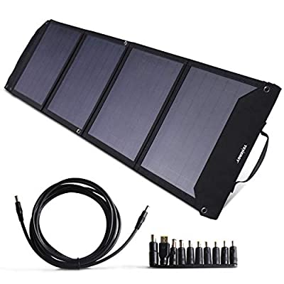 Tenergy Foldable 60W Solar Panel Charger for Camping Power Supply, Portable Power Chargers, and Power Packs, Outputs Includes DC, USB-C, and 2X USB-A Ports