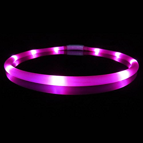 ZREAL USB LED Pet Chien Collier Lumineux Silicone Réglable Éclairage Lueur Chiens Laisse Nuit Sécurité Harnais Colliers Animaux Fournitures