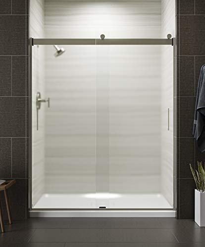 KOHLER K-706009-D3-MX 706009-D3-MX Levity 1/4 Shower Door 74 X 59-5/8 HDL, 74.00 x 3.06 x 59.63 inches, Matte Nickel
