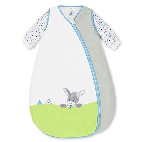 Sterntaler Schlafsack für Kleinkinder, Abnehmbare Ärmel, Wärmeregulierung, Reißverschluss, Größe: 90, Erik, Crème/Grau
