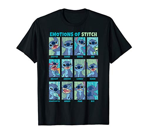 Disney Lilo & Stitch the Emotions Of Stitch Panel Grid T-Shirt