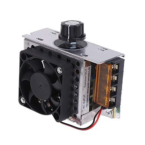 WNJ-TOOL, 1 stück AC Elektrischer Regler Motordrehzahlregler 220V 4000W SCR-Temperaturspannungsregler mit Ventilator Große Leistung Helligkeitsdimmer