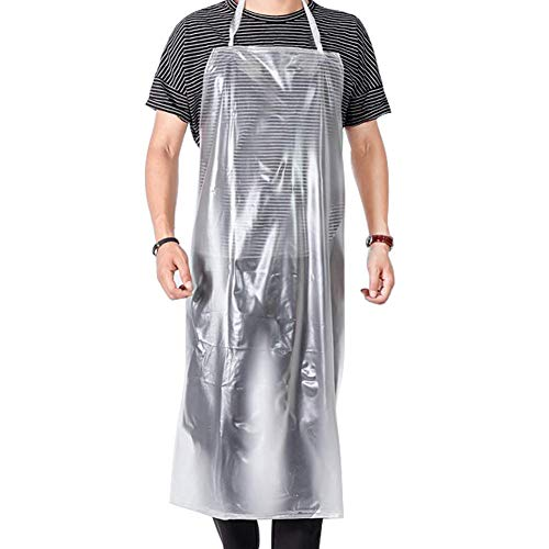 Easily Life Unisex 47 x27.5 inches Heavy Duty Transparent PVC Waterproof Apron Made of Vinyl.Best for Staying Dry and Clean When Dishwashing, Lab Work, Butcher, Dog Grooming, Cleaning Fish.