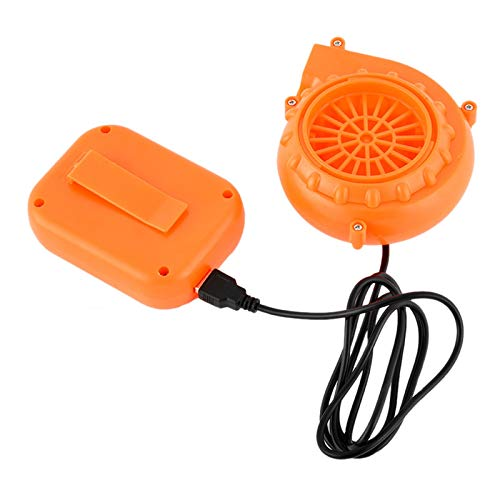 Halloween Mini Blower Fan for Dinosaur Costume or Doll Mascot Head or Other Inflatable Game Clothing Suits, Orange (Upgraded Version)