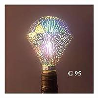 LWF-LED電球 5パック - カラフルな花火ダイヤモンドランプバルブ、LEDチップE27ランプホルダー、ホーム商業インテリア屋外ガーデンホリデーセレブレーション (Color : A, Size : 5 PACK)