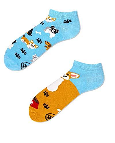 Many Mornings Socken Low unisex Knöchelsocken Playful Dog (39-42 socks_paradise)