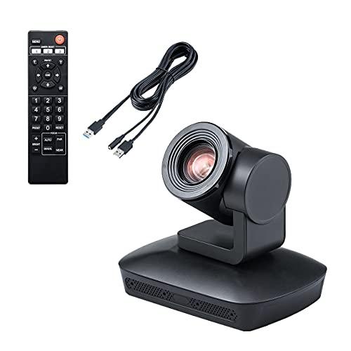 サンワダイレクト WEB会議カメラ 自動追尾 10倍ズーム マイク内蔵 オートフォーカス リモコン付 三脚取付可能 Zoom・Skype・Microsoft Teams・Webex対応 400-CAM089