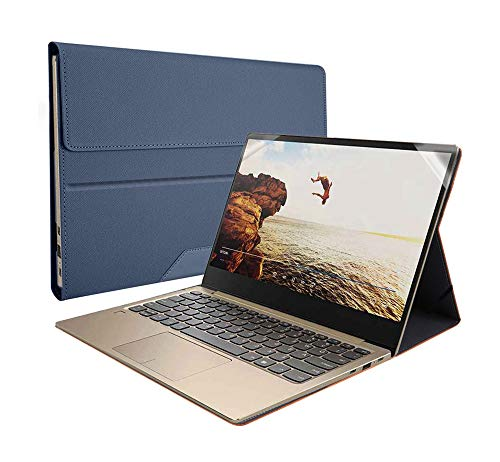 Honeycase Case Cover for Samsung Galaxy Book Flex NP730QCJ 13.3'/Galaxy Chromebook XE930QCA , PU Leather Folio Stand Case Compatible with Galaxy Book Flex NP930QCG/ ASUS ZenBook UX325JA 13'',S002-Blue