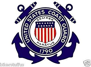 MFX Design Vintage Coast Guard Anchors Emblem Sricker - Us Military 1790 Sticker Decal Vinyl - Made in USA 2.75 in. x 2.75 in.