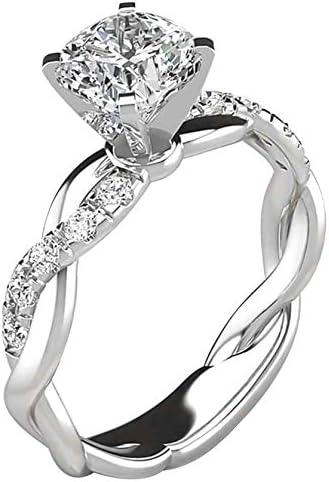 Women s Silver Ring Bridal Zircon Diamond Elegant Engagement Wedding Band Ring Ring for Women product image