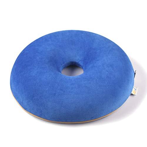 ZXMDP Cojín de Espuma de Memoria Cojín Coxis para el Alivio de hemorroides y Dolor de cóccix Adecuado para Silla de Ruedas Asiento de automóvil Hogar u Oficina,Azul,40 * 40 * 8CM
