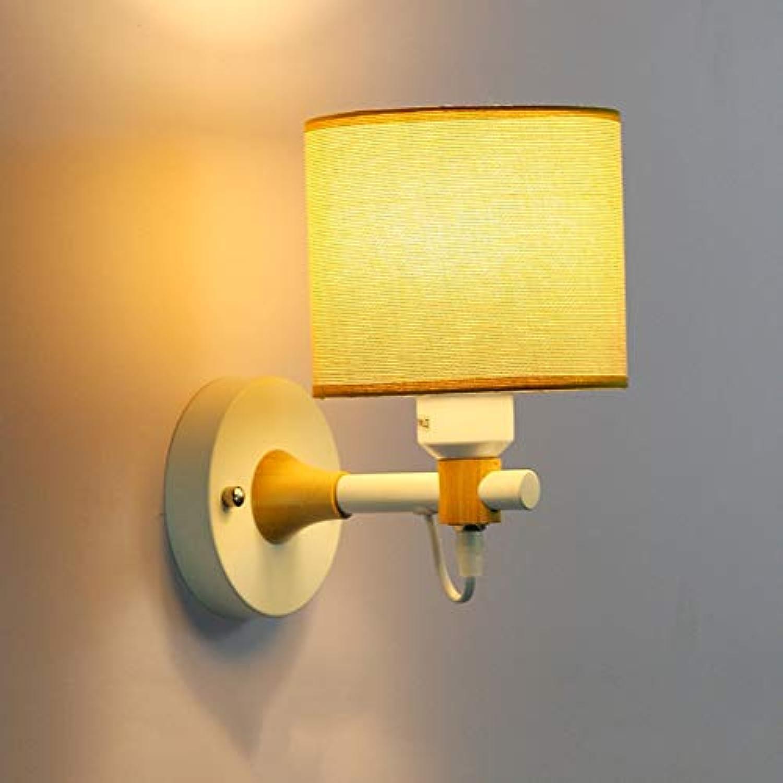 Xiao Fan    LED Modernes minimalistisches Schlafzimmer Nacht Wohnzimmer Nordeuropa Schlafzimmer Massivholz E27  1 (Farbe  Wei)