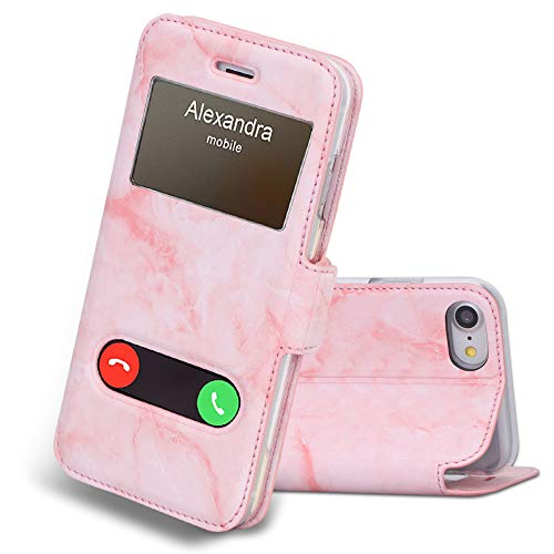 windows for iphones FYY Case for iPhone 7/8, iPhone SE 2020 (2nd), Magnetic Flip Phone Case Stand Protective Cover with Window View Function for Apple iPhone 8/7/SE (2nd) 2020 4.7