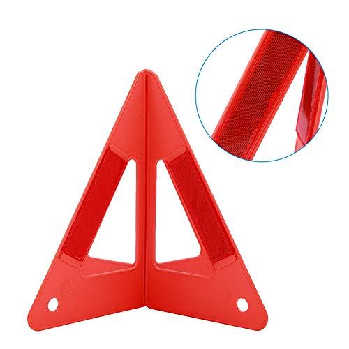 Faltbares ABS-Stoppschild für Notlichter, Dreiecksschild mit hohem Sichtbarkeitsgrad, für Pannen von Straßenbauautos