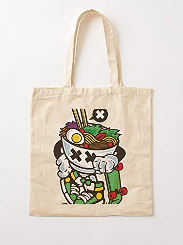 Skater Extreme Sport Skateboard Food Bowl Skate Chinese Spaghetti Tote en coton très sac | Sacs d'épicerie de toile sacs fourre-tout avec poignées sacs à provisions en coton durable