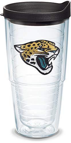 Tervis NFL Jacksonville Jaguars Primary Logo Tumbler with Emblem and Black Lid 24oz, Clear