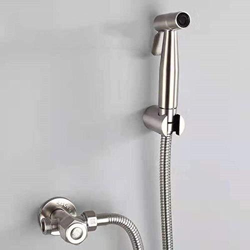 LONGWDS Con manguera de ducha de acero inoxidable y soporte para teléfono – 304 de acero inoxidable