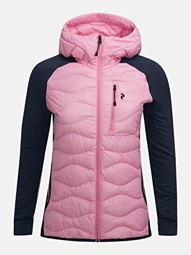 Peak Performance W Helium Hybrid Hood Jacket Colorblock-Blau-Lila, Damen Daunen Freizeitjacke, Größe M - Farbe Morning D