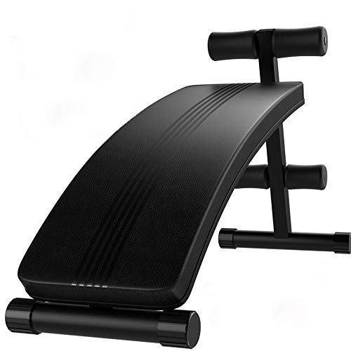 BLWX LY verstelbare opzet bank, praktisch gewicht voor volledige lichaamsbeweging - Multi-functie opvouwbare kantel/lager platform voor thuis sportschool, zwart