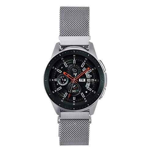 V-MORO Kompatibel mit Galaxy Watch 46mm Armband/Gear S3 Classic Frontier Armband,22mm Edelstahl Uhrenarmband für Bänder Kompatibel für Samsung Galaxy Watch 46mm(Silber)