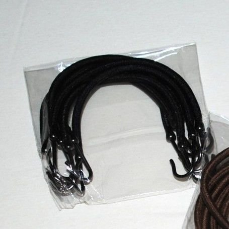 6 PCS Ponytail Hooks Holder Bungee Bands Hair Styling Black Brown Light Silver (Black)