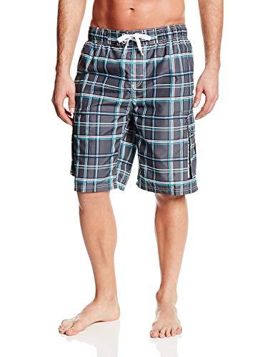 Kanu Surf Men's Swim Trunks (Regular & Extended Sizes), Miles Charcoal, X-Large