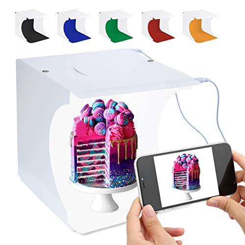 Tragbarer Foto-Studio-Ministand-Schießzeltinstallationssatz faltende Fotografie Leuchtkasten mit Würfel der Helligkeit 2x20 LED Streifen 8