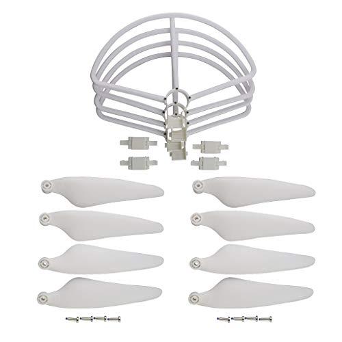 Hellery Pièces de Rechange d'Hélices de Drones Compatibles avec Quadricoptère Hubsan Zino H117S - Blanc, comme décrit