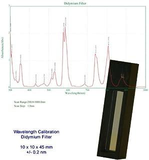 Azzota Didymium Oxide Filter - 10 x 10 x 45 mm, Accuracy +/- 0.2nm