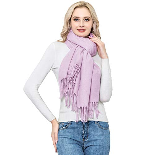 Pashmina Shawls and Wraps, Light Purple,Lavender/Lilac Pashmina Cashmere Wool Scarves for Womans and Girls