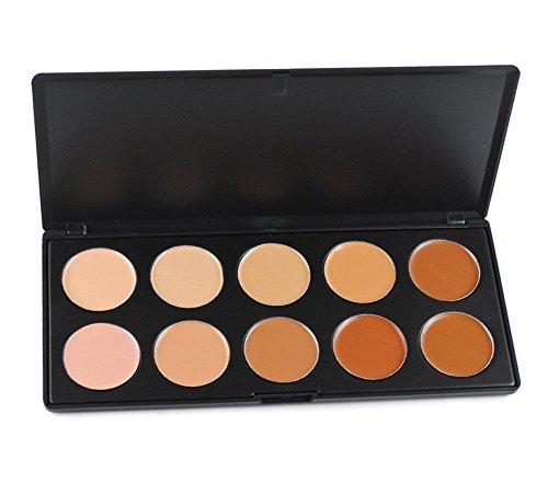 PhantomSky 10 Couleurs Palette de Maquillage Correcteur Camouflage Crème Cosmétique Set - Parfait pour une utilisation professionnelle et quotidienne