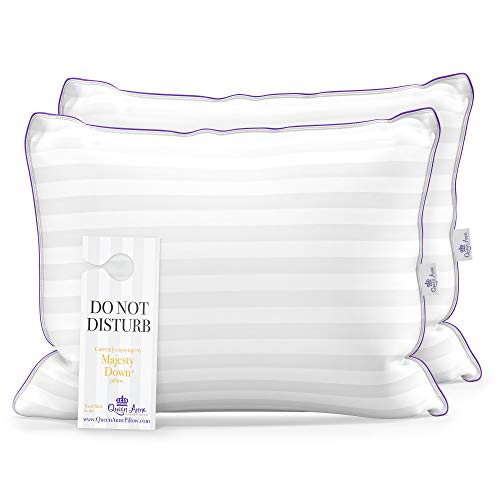Set of Two Queen Size Pillows for Sleeping, Bed Pillows 2 Pack - Luxury Hotel Quality Pillow, Down...