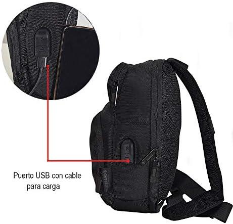 SWISSBRAND Pechera Cruzada/Mariconera/Impermeable Porta Tablet hasta 8″ Puerto USB 41IaZh5nBwL