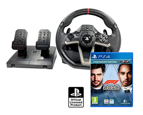 Volante e pedali PS4 originale con licenza Playstation 4 Rwa Apex + Formula 1 - F1 2019