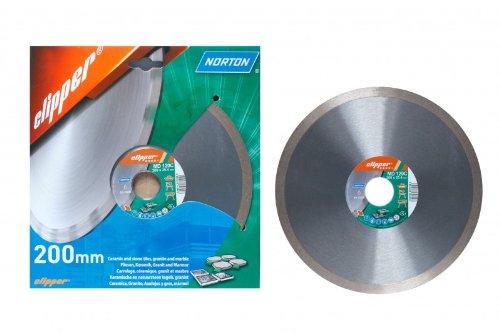 1 Stück Diamantscheibe NORTON Clipper MD 120 C 200 x 25,4 mm Fliese
