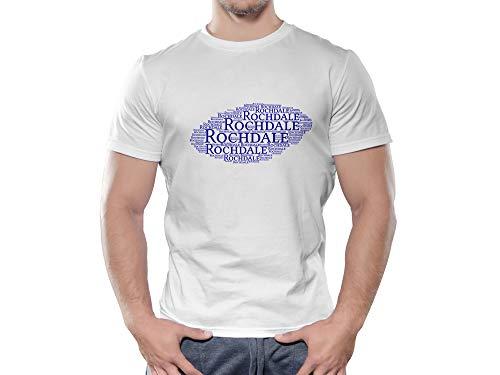 Rochdale FC Novelty Football Cloud T Shirt, (Age 12-13)