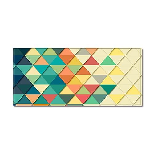 YDyun Alfombras Dormitorio Modernas Pelo Lavables - Alfombrillas de Cocina con Motivos geométricos Antideslizantes