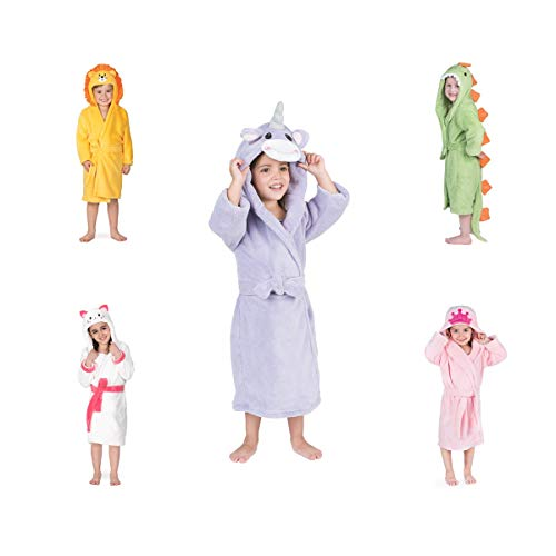 Bata De Baño Esquimal *ultrasecado* para Niños De 3 A 6 Años (Unicornio)