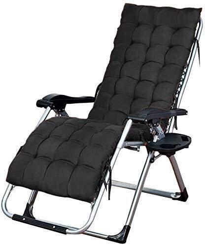 TOPNIU Sedie a Sdraio Sedia per Esterni, con Tazza e Supporto per Telefono, Cuscino reclinabile, Poltrona a Braccio Singolo Imbottito, per Persone Pesanti