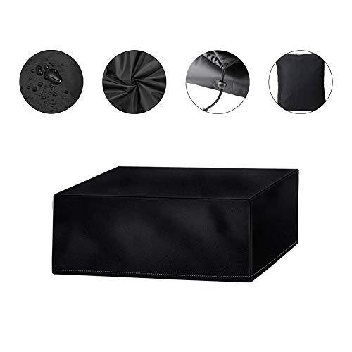 Qifumaer Meubles Table Couverture Polyester Housse de Protection pour Rectangulaire Meuble de Jardin Bâche Housse de Tissu De 420D Oxford Rectangulaire