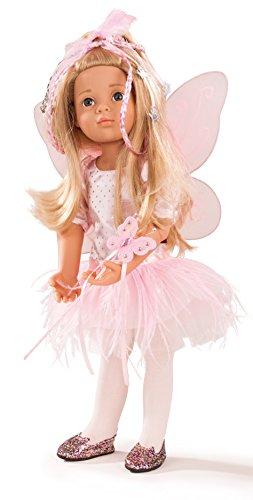 Götz 1666036 Happy Kidz Marie als Fee Puppe - Multigelenkpuppe - 50 cm große Fee'n Stehpuppe mit Zubehör, Blonde Haare, Blaue Augen - 8-teiliges Set