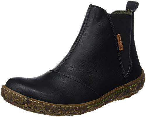 El Naturalista Damen Vegan Chelsea Boots, Schwarz (Black Black), 36 EU
